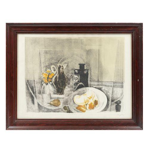 VICENTE GANDÍA. Romántico No. 6. Firmado. Grabado 11/30. 42 x 60 cm. Enmarcado.