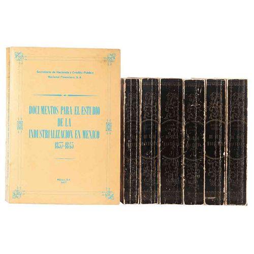Historia General de Real Hacienda / Documentos para el Estudio de la Industrialización en México 1837 - 1845. Pzs: 7.