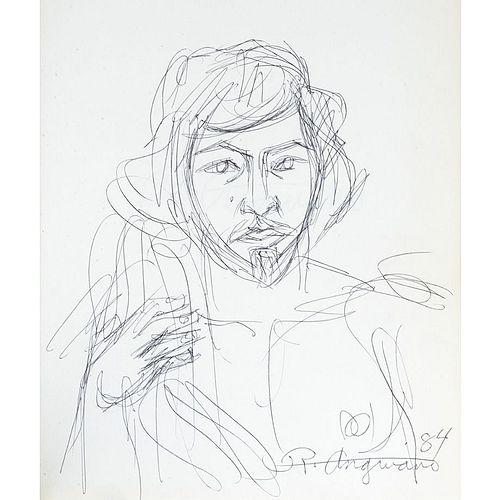 Anguiano, Raúl. Dibujo firmado, 84. Crespo de la Serna, Jorge J / Pascual Buxo, José. Raúl Anguiano. México, 1983.