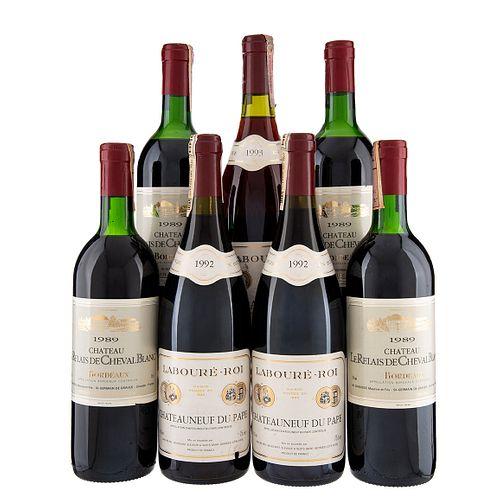 Lote de Vino Tinto de Francia. Château Le Relais. Beaujolais. En presentaciones de 750 ml. Total de Piezas: 7.