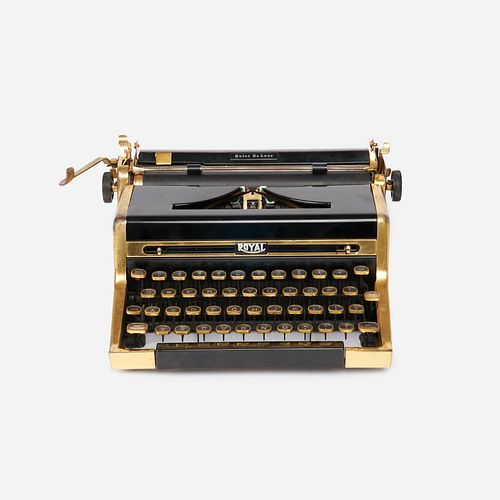 """Royal """"Quiet De Luxe"""" Gold-Plated Typewriter"""