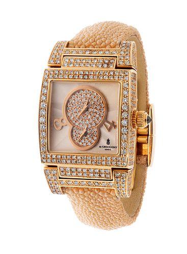 DE GRISOGONO Instrumentino Dual Time watch, n.6703, for ladies/Unisex.