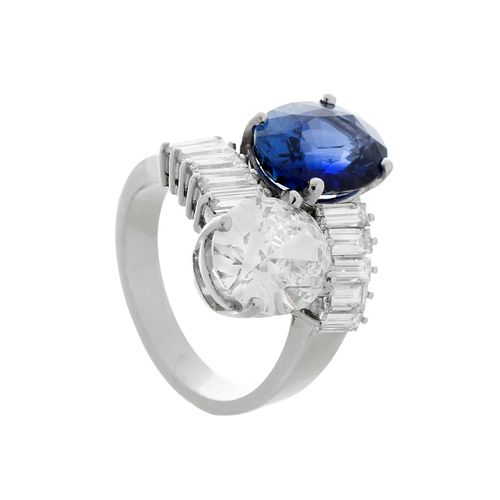 """You and me"""" ring in 18k white gold"""