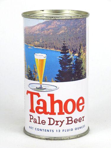 1958 Tahoe Pale Dry Beer 12oz Flat Top Can 138-10