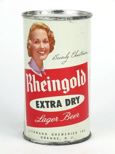 1957 Rheingold Beer Beverly Christiansen 12oz Flat Top Can 123-10