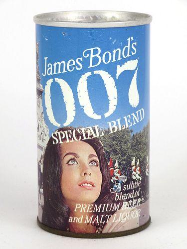 1967 James Bond's 007 Special Blend Malt Liquor 12oz Tab Top Can T82-33