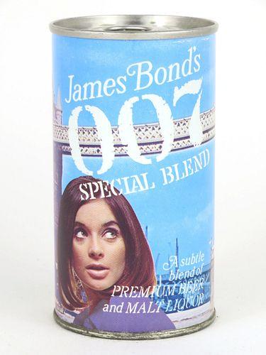 1967 James Bond's 007 Special Blend Malt Liquor 12oz Tab Top Can T82-31