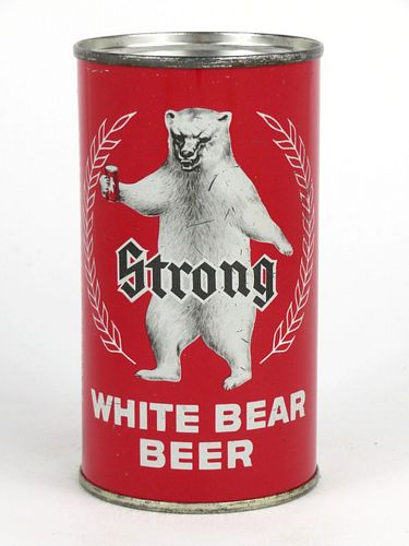 1963 White Bear Beer 12oz Flat Top Can 145-13