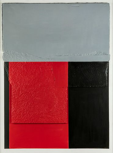 """RAFAEL CANOGAR GÓMEZ (Toledo, 1935). """"Imposta"""", 2007. Construction on handmade paper and painted in oil glued to board. Signed and dated lower right:"""