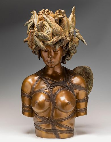 "ROBERTO FABELO (Camagüey, Cuba, 1950).  ""Animalia"". From the series ""Animalia"", 2012.  Bronze sculpture, copy P.A. 2/3.  Attached certificate of authe"