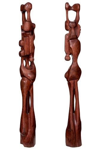 AGUSTÍN CÁRDENAS ALFONSO (Cuba, 1927 - 2001).  Untitled, 1955.  Wood. Unique piece.  Attached document signed by the widow of Don Odilio Urfé and cert
