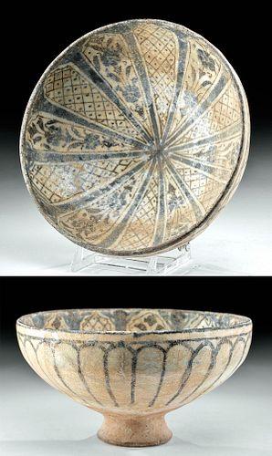 Il-Khanid Glazed Pottery Bowl - ex Sotheby's