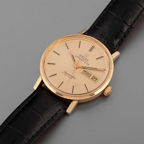 Omega for Tiffany & Co., Yellow Gold Seamaster DeVille Wristwatch, ca. 1975