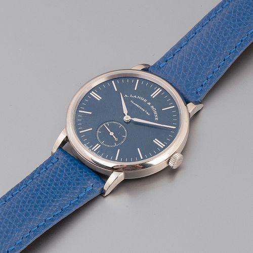 "A. Lange + Sohne, White Gold ""Blue Series"" Saxonia Wristwatch, ca. 2017"