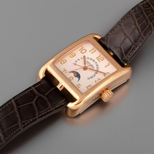 Hermes, Limited Edition Cape Cod Pink Gold Wristwatch, ca. 2007