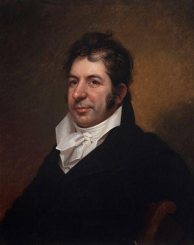 "REMBRANDT PEALE (Bucks County. United States, 1778- Philadelphia, 1860).  ""Male Portrait in Neoclassical Fashion, ca. 1815.  Oil on canvas.  Attached"