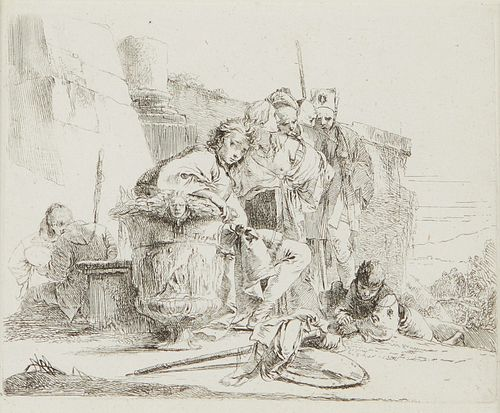 Giovanni Tiepolo Etching of a Young Man