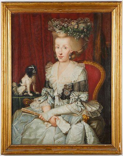 Italian School Old Master Portrait of Infanta Maria Luisa of Spain