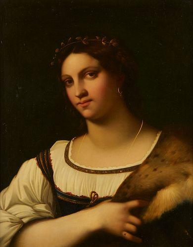 Italian School Portrait of a Lady - Relined