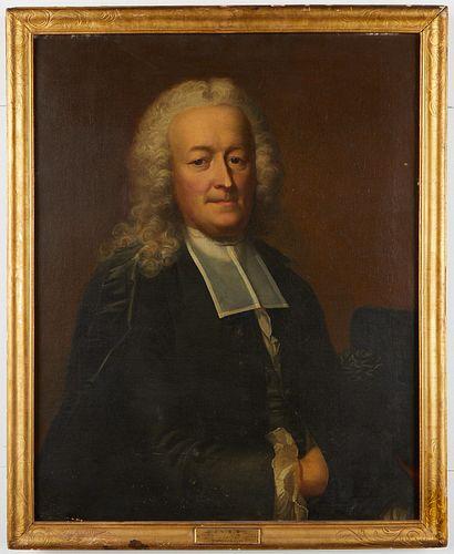 Emmanuel Handmann Portrait of a Clergyman Painting