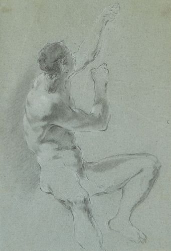Claudio Francesco Beaumont Drawing of a Nude Man