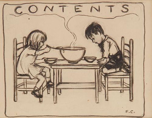 "Fidelma Cadmus Kirstein ""Contents"" Illustration on Paper"