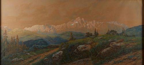 Vincenz Havlicek Austrian Landscape Oil on Canvas