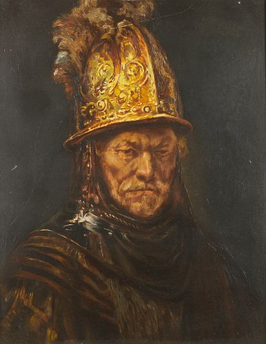 """Charles Rubino after Rembrandt """"Man with the Golden Helmet"""""""