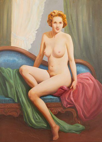 Charles Rubino Painting Seated Nude