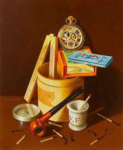 "Antonio Matallana ""Pot Jaune"" Oil on Masonite"