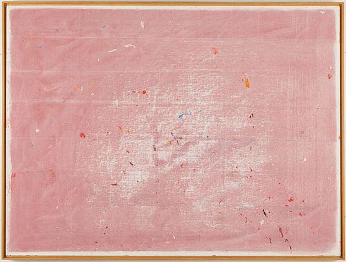 R.J. Slowinski Pink Abstract Acrylic on Canvas