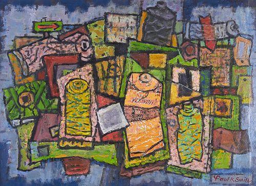 "Paul Kauvar Smith Painting ""Paint Tube Collage No. 2"""