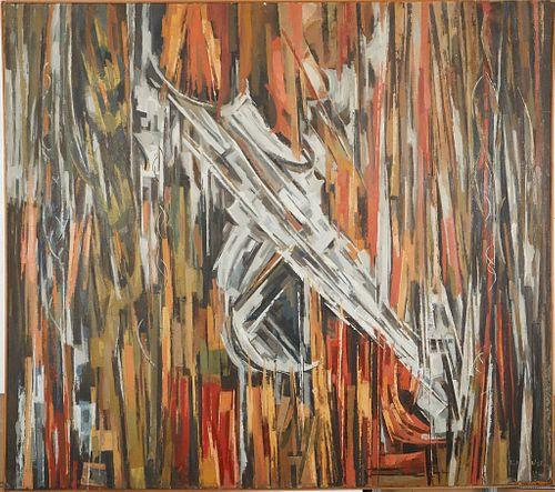 Elof Wedin Large Oil on Canvas Abstract