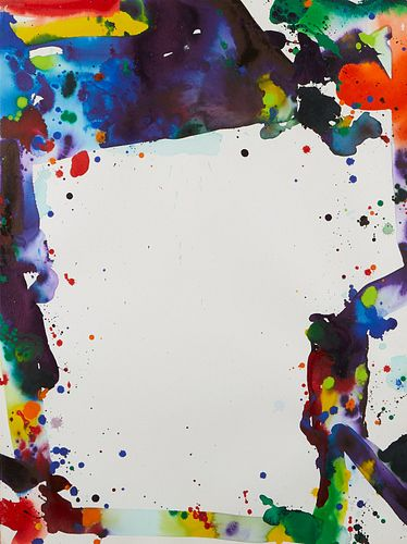 Sam Francis Abstract Acrylic on Paper 1969