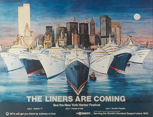 Pitigliani New York Harbour Festival 1977 Poster