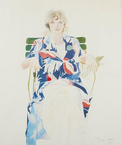 "David Hockney ""Celia Carennac August"" Print"