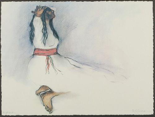 RC Gorman Navajo Woman Lithograph 1976