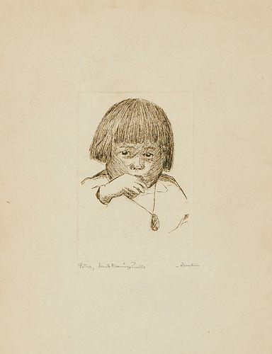 W. Herbert Dunton Portrait Petra Etching