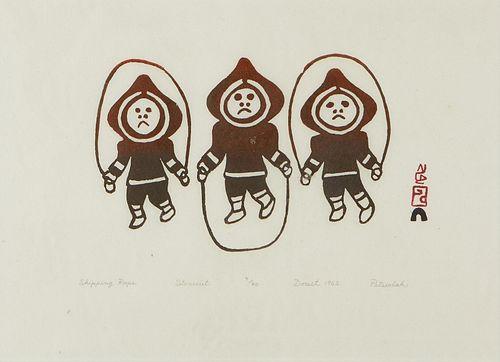 Grp: 3 Inuit Stonecut Prints Pitseolak Ashoona