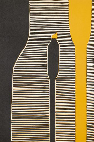 Donald Sultan French Stacks 3 Linocut