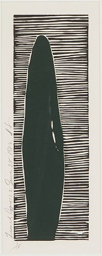 Donald Sultan French Cypress 2 Linocut