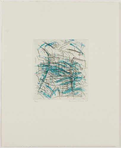 Louisa Chase Untitled (Water) Etching