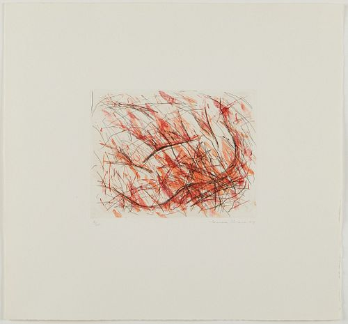 """Louisa Chase """"Untitled (Fire)"""" Etching"""