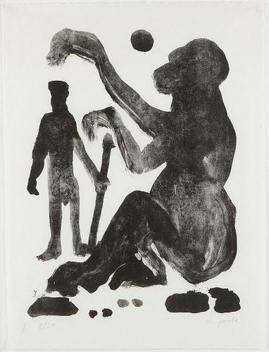 "A.R. Penck ""Begegnung (Encounter)"" Lithograph"