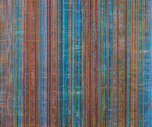 Lisa Nankivil Streaming, 2009 Color Lithograph and Screenprint
