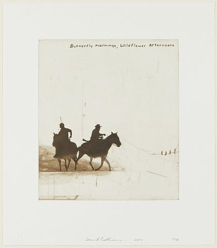"""David Rathman """"Butterfly Mornings, Wildflower Afternoons"""" Etching & Aquatint"""