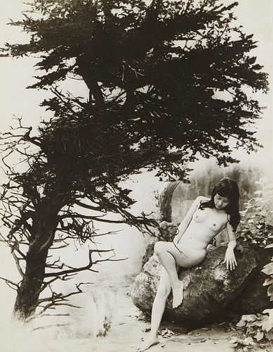 Chin San Long Photograph Nude with Tree Signed Silver Gelatin
