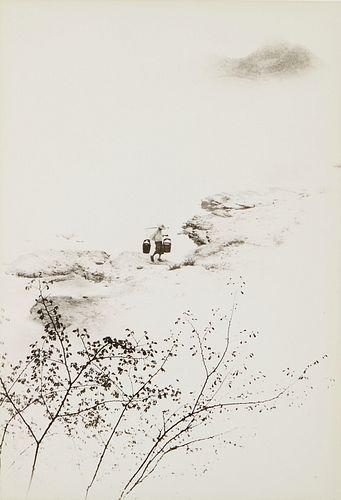 Chin San Long Photograph - Woman Carrying Water