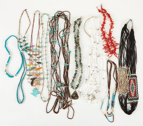 Group of Native American Heishi Necklaces