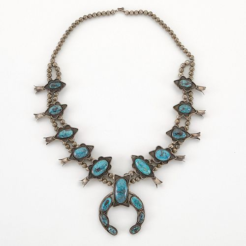 SW Squash Blossom Necklace w/ Large Ovals